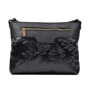 Černá kožená kabelka Renata Corsi Mula