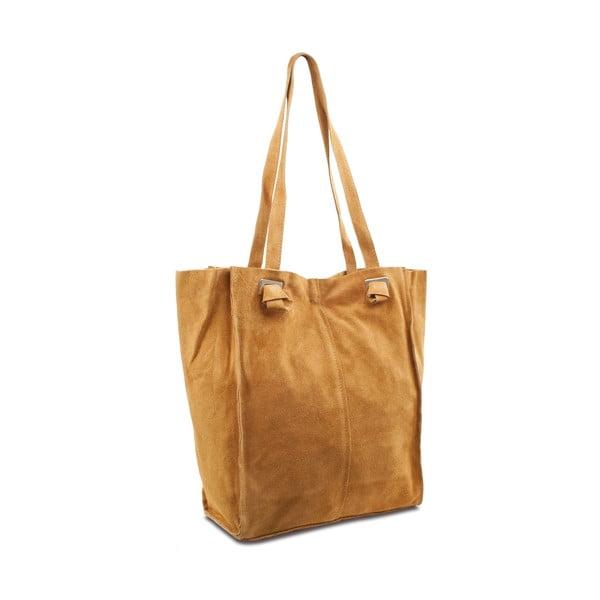 Karamelově hnědá kožená kabelka Infinitif Tia