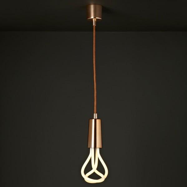 Set závěsného kabelu Drop Cap Metallic Copper a úsporné žárovky Plumen