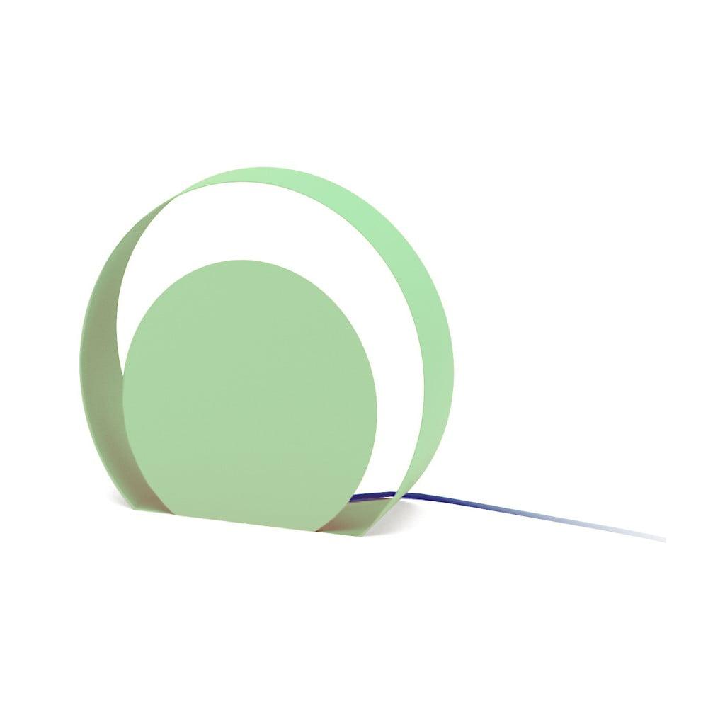 Zelená stojací lampa MEME Design Chiocciola, Ø39cm