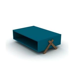 Modrý konferenční stolek Rafevi Kipp