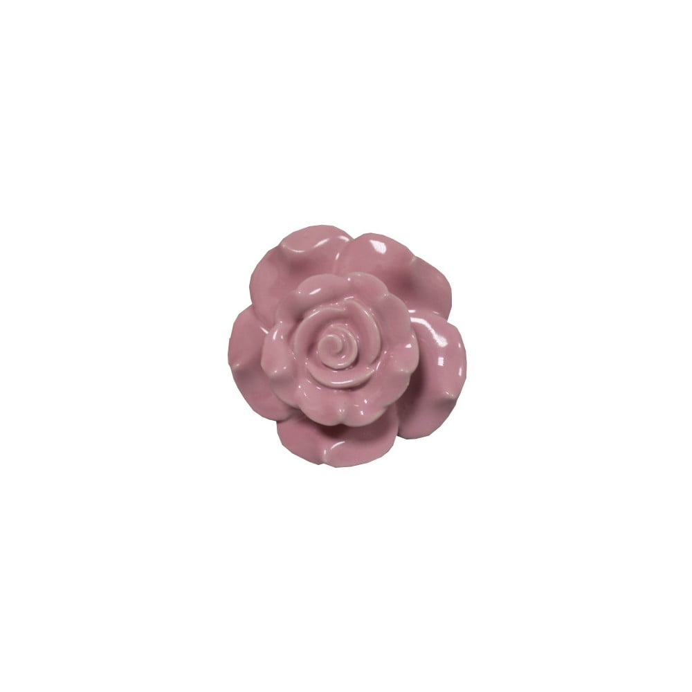 Růžová kameninová dekorativní úchytka Antic Line Belarosa