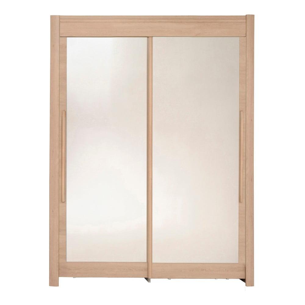 Šatní skříň v dekoru dubového dřeva s posuvnými dveřmi Parisot Adorlée, šířka160cm
