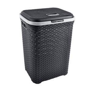 Černý koš na prádlo Orion Ratan,50l