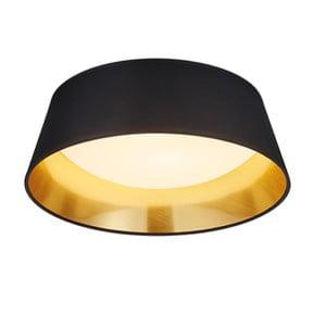 Černé stropní LED svítidlo Trio Ponts, průměr 34 cm