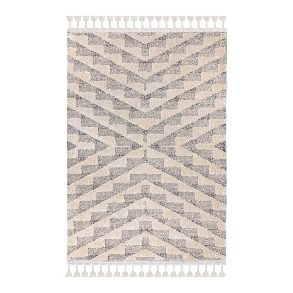 Šedokrémový koberec Flair Rugs Hampton, 80 x 150 cm