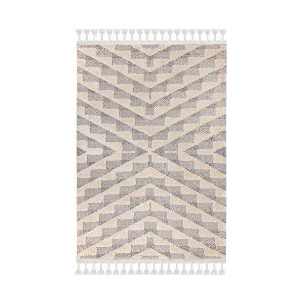 Šedokrémový koberec Flair Rugs Hampton, 120 x 170 cm