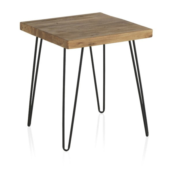 Odkládací stolek s deskou z jilmového dřeva Geese Rea, výška 47cm