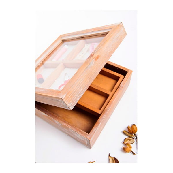 Dřevěná krabička na šití