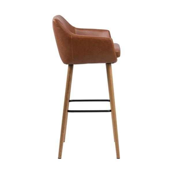 Sada 2 hnědých barových židlí Actona Nora