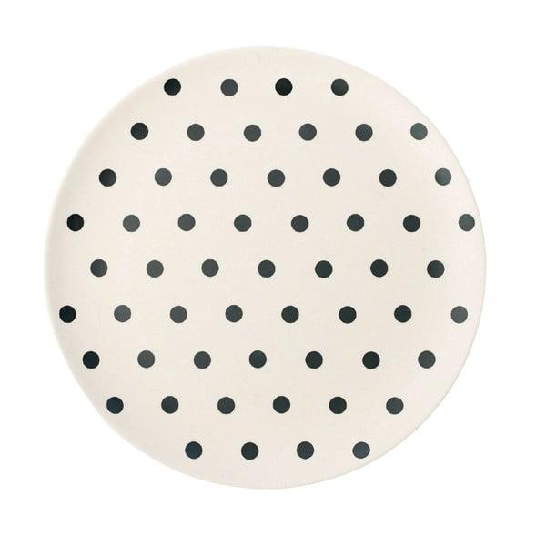 Bambusový talíř Black Dot