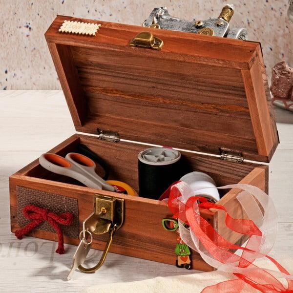Dřevěný box na šití Woodie