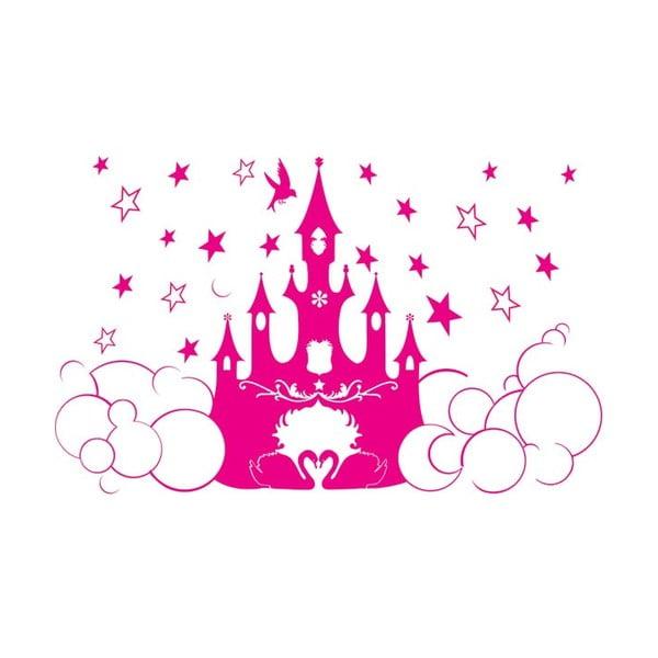 Samolepka na zeď Princess castle, 63x105 cm