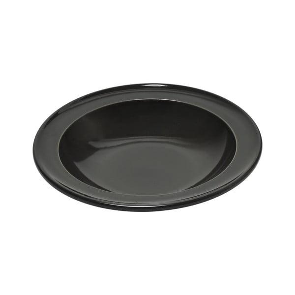 Pepřově černý polévkový talíř Emile Henry, ⌀ 22 cm