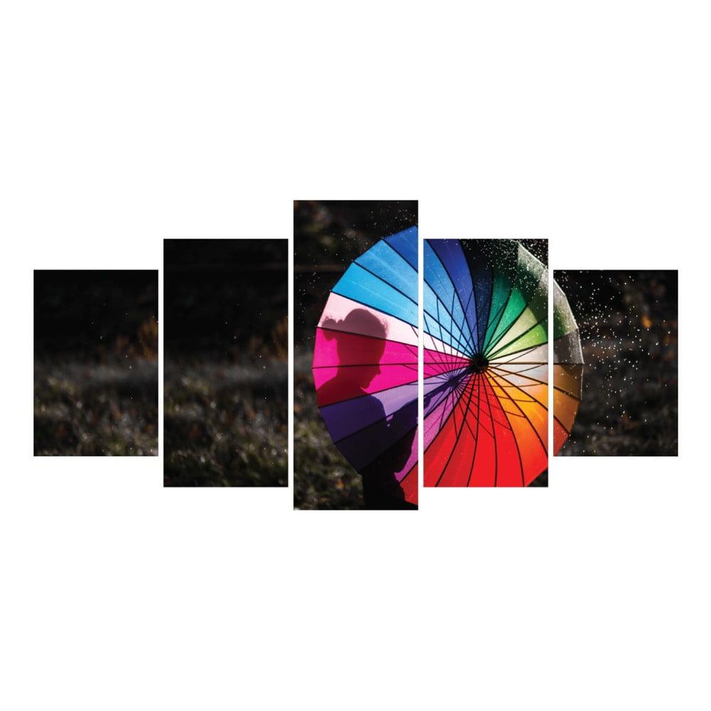 tablou din 5 piese la maison des couleurs umbrella bonami. Black Bedroom Furniture Sets. Home Design Ideas