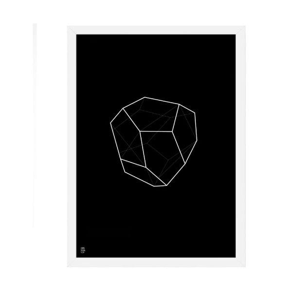 Plakát Emerald Geometric Black, 50x70 cm