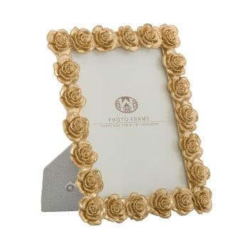 Ramă foto MauroFerretti, 21x25,5cm, motive trandafiri, auriu imagine