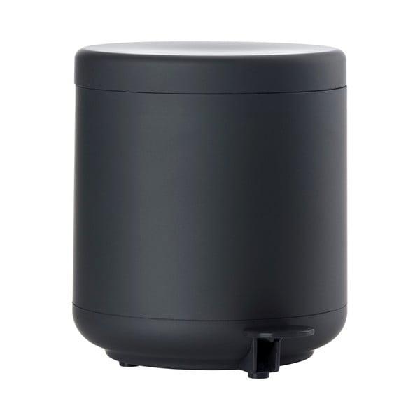 UME fekete pedálos fürdőszobai szemetes, 4 l - Zone
