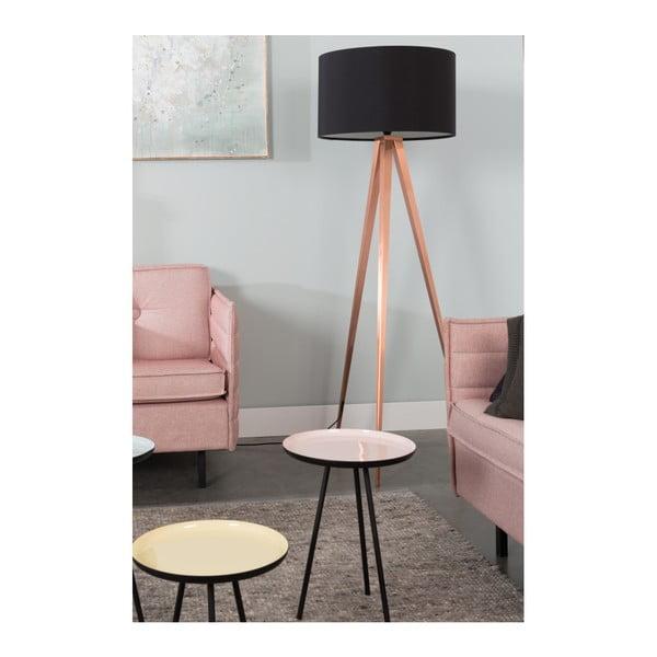 Měděno-černá stojací lampa Zuiver Tripod