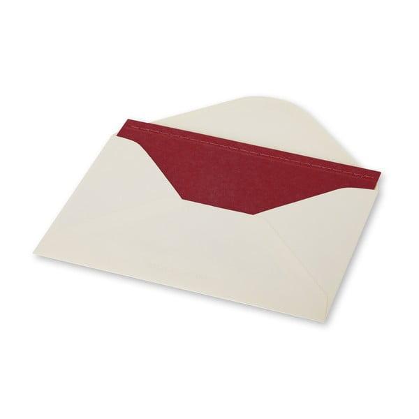 Dopisní set Moleskine Red, zápisník + obálka