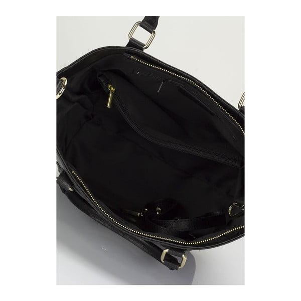 Černá kožená kabelka Giulia Massari Ancona