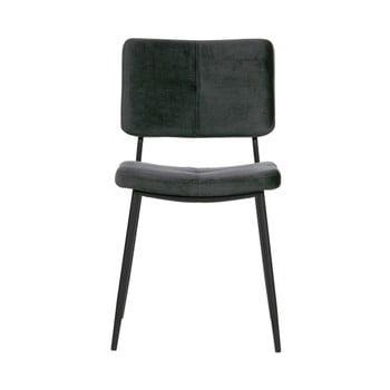 Set 2 scaune WOOOD Kaat, gri închis