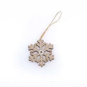 Závěsná vánoční dekorace ve tvaru vločky Dakls Theodore