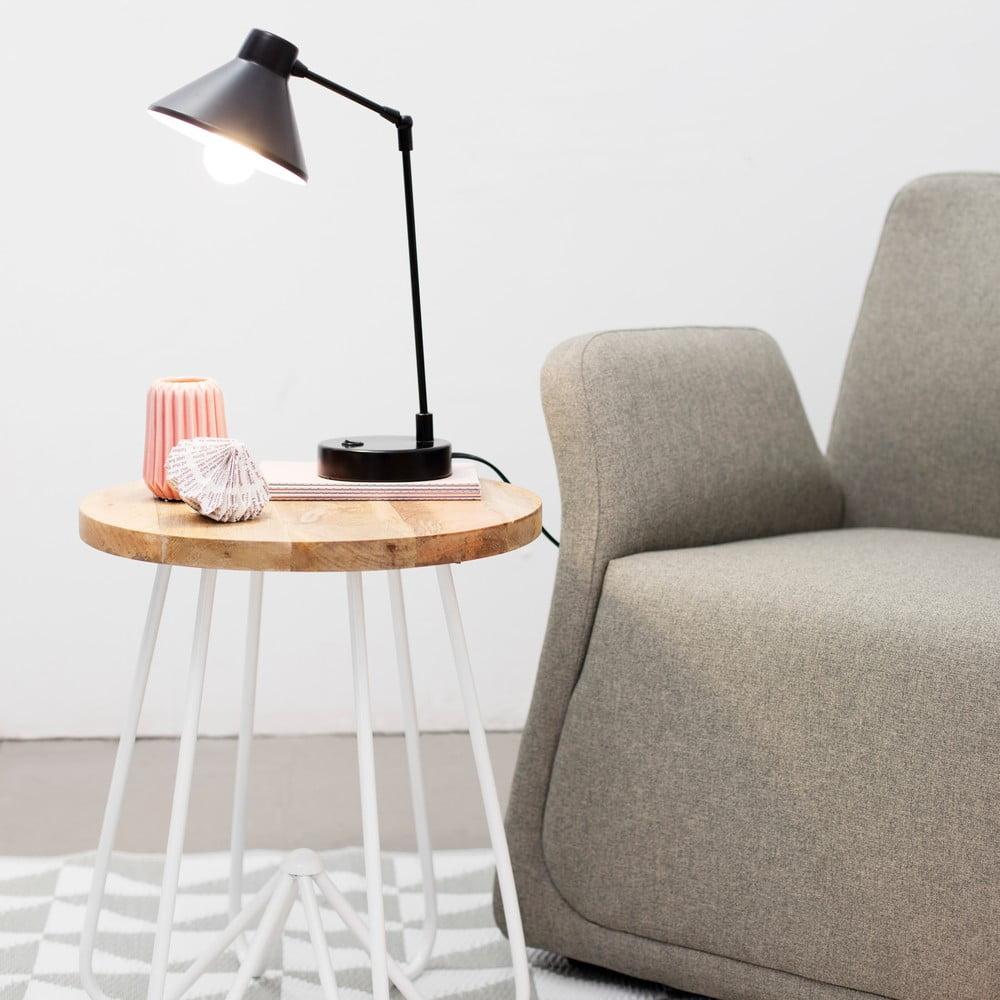 b l stolek s deskou z mangov ho d eva hf living round bonami. Black Bedroom Furniture Sets. Home Design Ideas