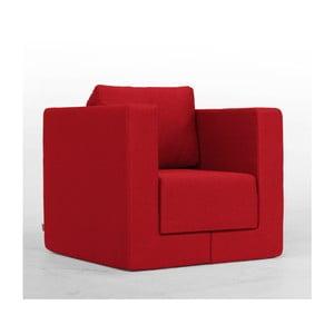 Červené modulové křeslo Feydom Q6