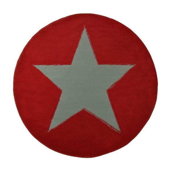 Koberec City & Mix - červená plná hvězda, 140 cm