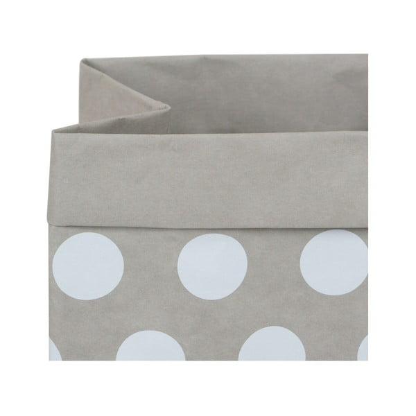 Coș de depozitare din hârtie lavabilă Furniteam Dots