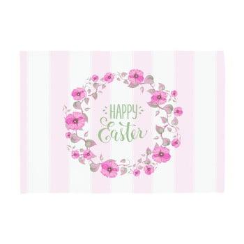 Set 2 suporturi pentru farfurie Apolena Happy Easter, 33 x 45 cm, roz – alb de la Apolena