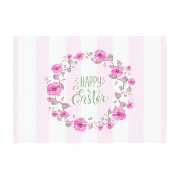 Set 2 suporturi pentru farfurie Apolena Happy Easter, 33 x 45 cm, roz - alb