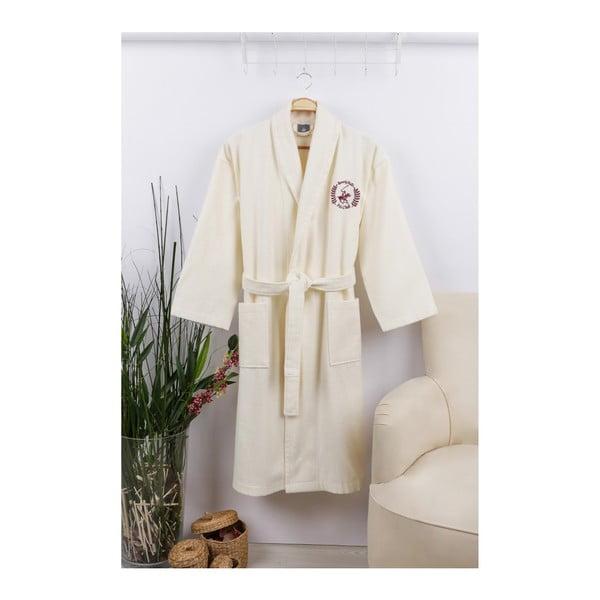 Unisex župan v krémově barvě Beverly Hills Polo Club, velikost S/M