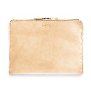 """Béžový kožený obal na notebook 13"""" na zip O My Bag"""
