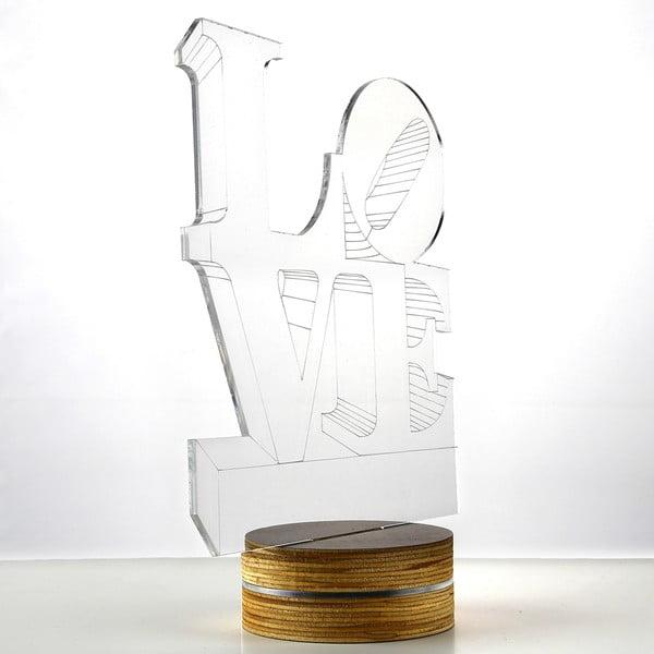 3D stolní lampa Love