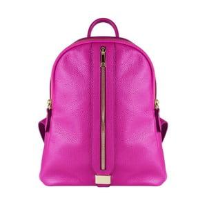 Fuchsiový kožený batoh Maison Bag Lisa