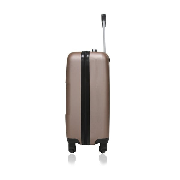 Cestovní kufr v růžovozlaté barvě na kolečkách Hero Coronado, 36l