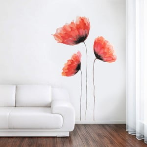 Samolepka Malovaný mák, 70x50 cm