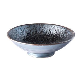 Bol din ceramică pentru supă MIJ Pearl, ø 24 cm, gri - negru