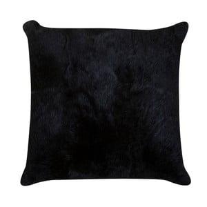 Tmavě hnědý polštář z králičí kůže Pipsa Fillo, 40x40cm