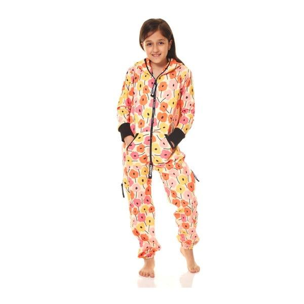 Oranžový dětský domácí overal Streetfly, pro děti 4-5 let