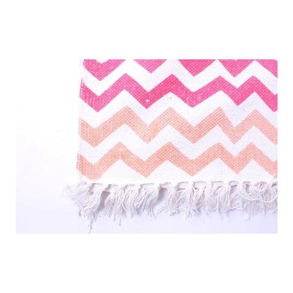 Koberec La Finesse Zig Zag Orange/Pink, 70x200 cm