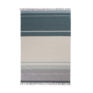Vlněný koberec Metallum Aqua, 80x150cm