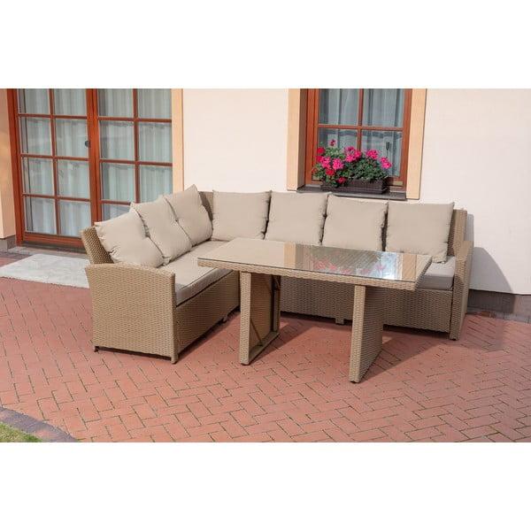 Set mobilier de grădină Timpana Family Relax, maro cappucino