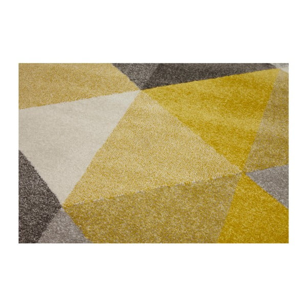 Koberec se žlutými detaily Kokoon Muoto, 160x230cm