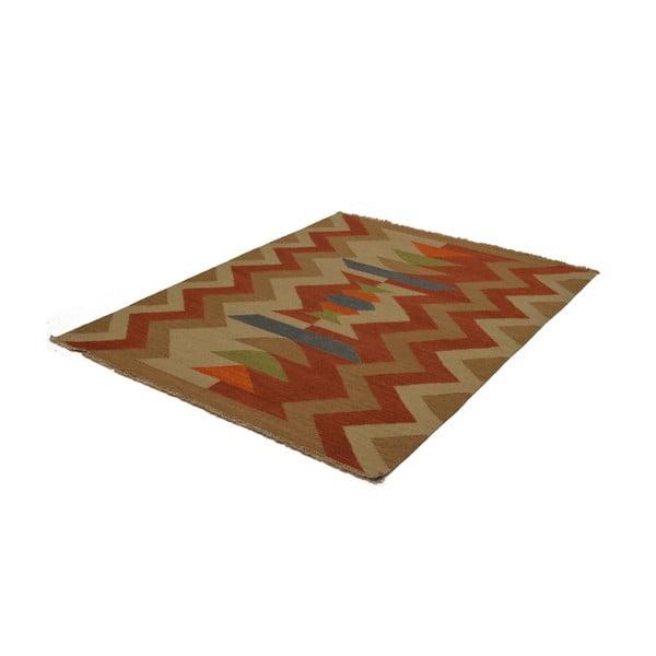 Ručně tkaný koberec Orange Beige Ethno, 140x200 cm