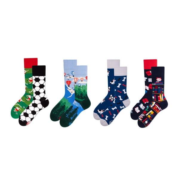 Sada 4 párov ponožiek v darčekovom balení Many Mornings Adventure, veľ. 39–42