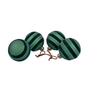 Set 4 decorațiuni pentru bradul de Crăciun Ego Dekor, negru - verde imagine