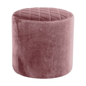 Růžový puf ze sametu House Nordic Ejby